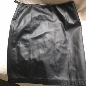 Ann Taylor genuine 100% leather skirt